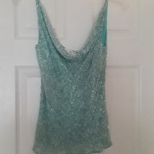 Scala Beaded Sleeveless Camisole Sz Sm/M